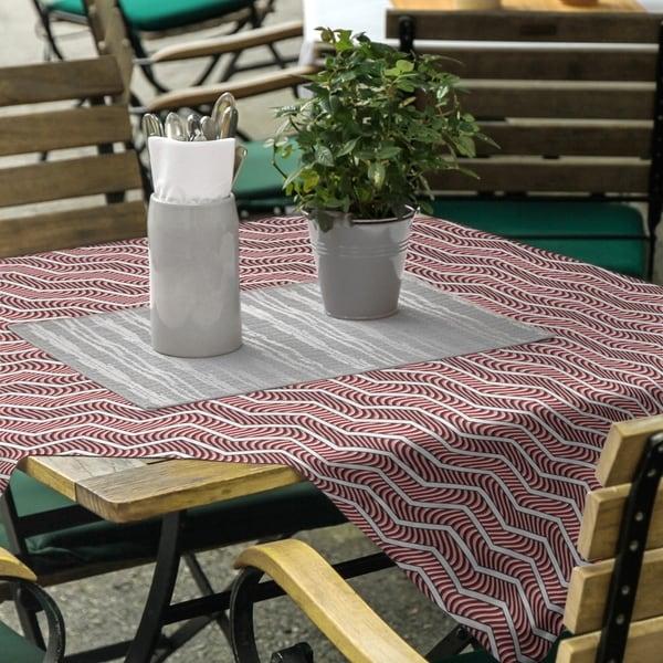 Wavy Chevrons Square Tablecloth - 58 x 58