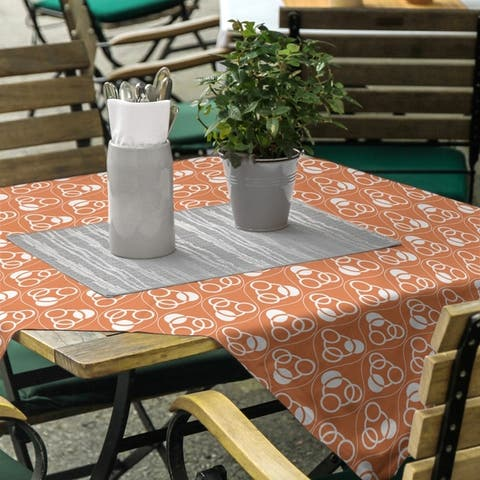 Classic Circles & Waves Square Tablecloth