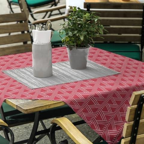 Classic Zig Zag Pattern Square Tablecloth