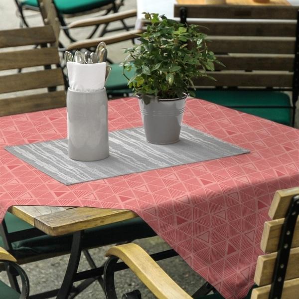 Pastel Monochrome Hand Drawn Triangles Square Tablecloth - 58 x 58