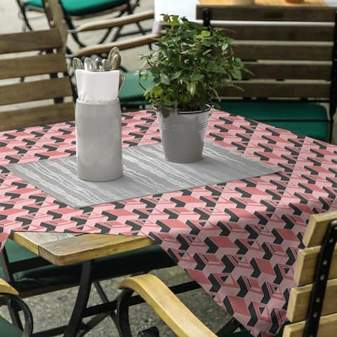 Black & Color Skyscrapers Pattern Square Tablecloth