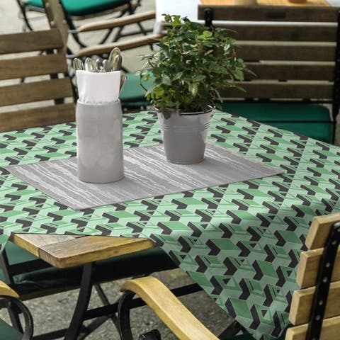 Black & Color Skyscrapers Pattern Square Tablecloth