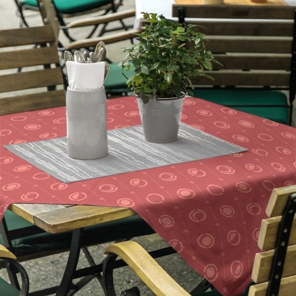 Monochrome Moon Phases Pattern Square Tablecloth - 58 x 58