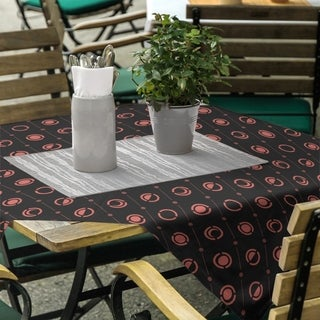 Black & Color Moon Phases Square Tablecloth - 58 x 58
