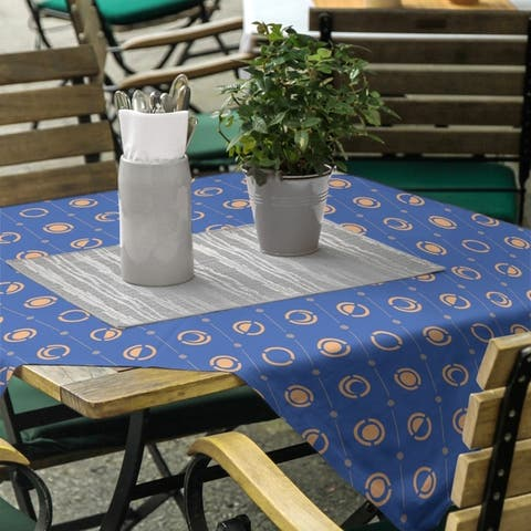 Two Color Moon Phases Square Tablecloth