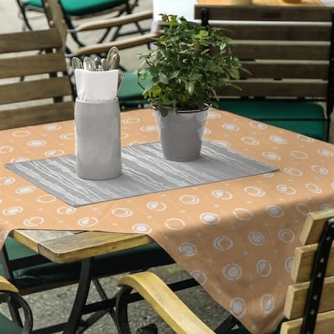 Pastel Moon Phases Pattern Square Tablecloth
