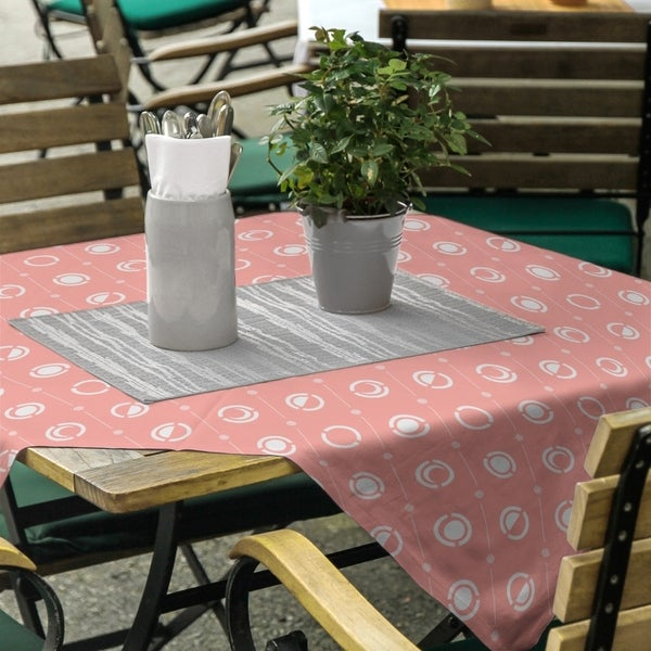Pastel Moon Phases Pattern Square Tablecloth. Opens flyout.