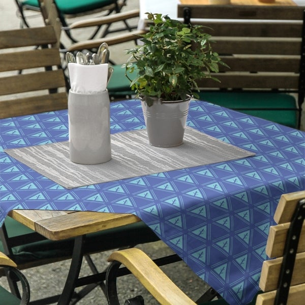 Two Color Minimalist Trees Square Tablecloth - 58 x 58