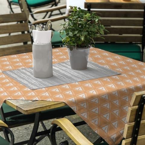 Classic Minimalist Tree Pattern Square Tablecloth
