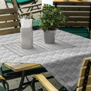 Classic Basketweave Stripes Square Tablecloth - 58 x 58