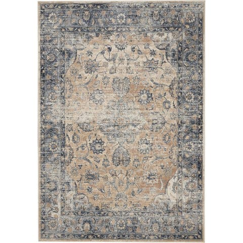 kathy ireland Malta Distressed Tradtitional Area Rug by Nourison