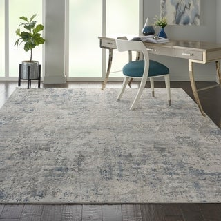Porch & Den Meadowgrass Distressed Abstract Area Rug