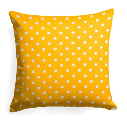 Glasgow Yellow Dots 25-inch Reversible Square Pillow by Havenside Home
