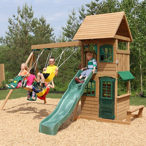 KidKraft Windale Wooden Swing Set / Playset