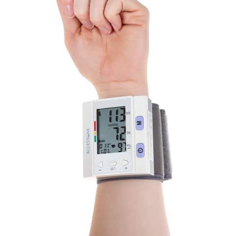 Blood Pressure Cuff  Electronic Digital Wrist Heart Monitor with LCD by Bluestone - 2.75 x 1 x 3