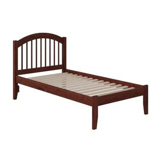 Windsor Twin XL Platform Bed with Open Foot Board in Walnut