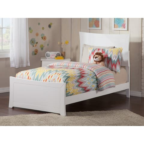 Metro Twin XL Traditional Bed with Matching Foot Board in White