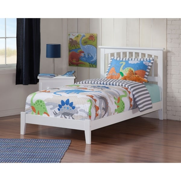 Mission Twin XL Traditional Bed in White