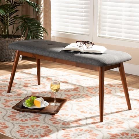 Carson Carrington Ulfshult Mid-century Modern Fabric Dining Bench