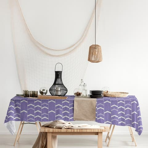 Single Color Lined Chevrons Rectangle Tablecloth - 58 x 102