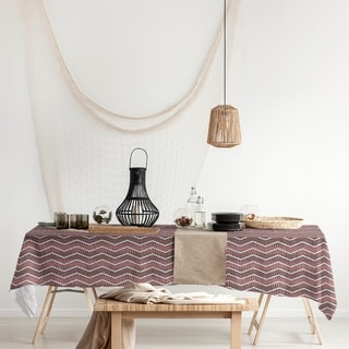 Wavy Chevrons Rectangle Tablecloth - 58 x 102