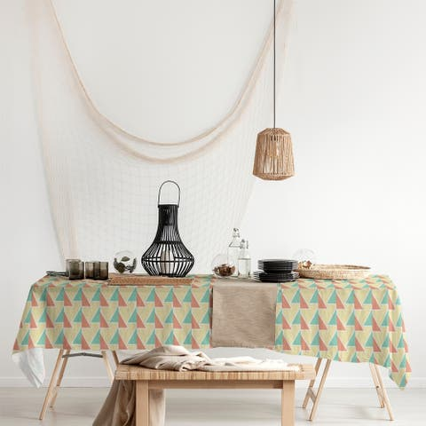 Shifted Arrows Pattern Rectangle Tablecloth - 58 x 102