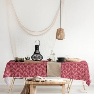 Classic Zig Zag Pattern Rectangle Tablecloth - 58 x 102