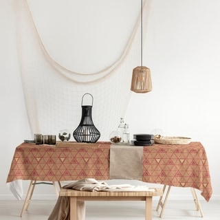 Full Color Hand Drawn Triangles Rectangle Tablecloth - 58 x 102