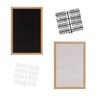 Felt Letter Board 12x18 Inches Includes 290 Changeable Letters & Symbols FREE Bonus Bag for Storing Letters - N/A