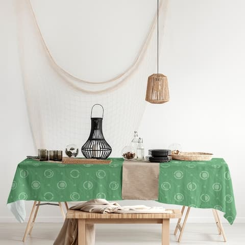 Monochrome Moon Phases Pattern Rectangle Tablecloth - 58 x 102
