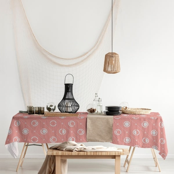 Pastel Moon Phases Pattern Rectangle Tablecloth - 58 x 102