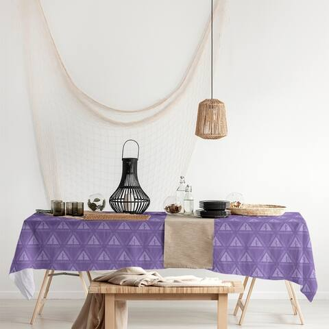 Monochrome Minimalist Tree Pattern Rectangle Tablecloth - 58 x 102
