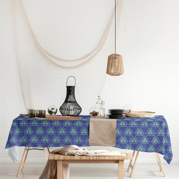 Three Color Minimalist Trees Rectangle Tablecloth - 58 x 102