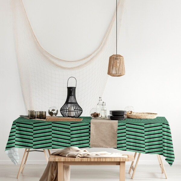 Black & Color Fractured Stripes Rectangle Tablecloth - 58 x 102. Opens flyout.