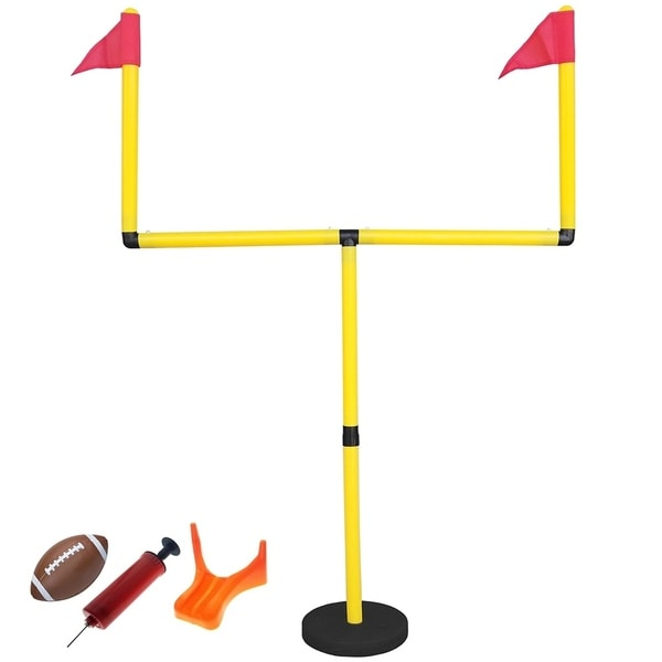 GoTEAM Youth Football Goal Post Set with Uprights, Ball, Tee and Pump