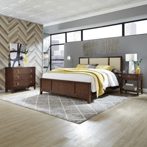Bungalow King Bed; Night Stand; & Chest