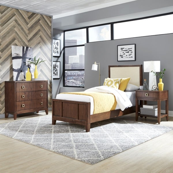 Bungalow Twin Bed; Night Stand and Chest