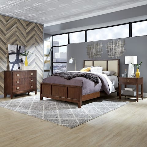 Bungalow Queen Bed; Night Stand; & Chest