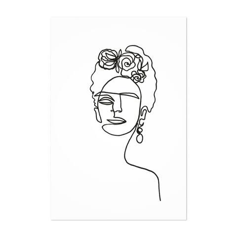 Noir Gallery Frida Kahlo Feminine Line Drawing Unframed Art Print/Poster