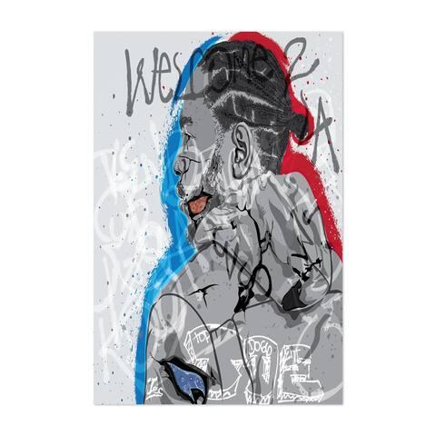 Noir Gallery Kendrick Lamar Portrait Rap Music Unframed Art Print/Poster