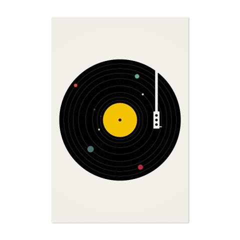 Noir Gallery Music Record Turntable Vinyl Unframed Art Print/Poster