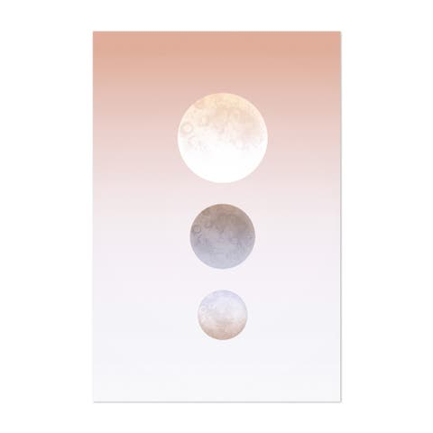 Noir Gallery Abstract Moon Watercolor Painting Unframed Art Print/Poster