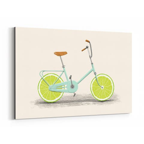 Noir Gallery Bike Cycling Vintage Retro Canvas Wall Art Print