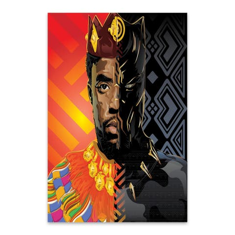 Noir Gallery T'Challa Black Panther Portrait Metal Wall Art Print