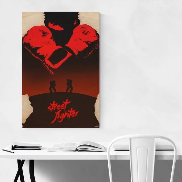 Shop Noir Gallery Street Fighter Video Game Culture Metal Wall Art