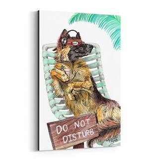Noir Gallery Funny German Shepherd Dog Gift Canvas Wall Art Print
