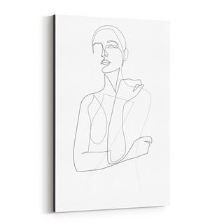 Noir Gallery Feminine Minimal Line Drawing Canvas Wall Art Print
