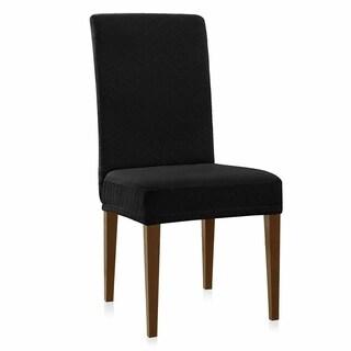 Enova Home Rhombus Jacquard Stretchy Universal Dining Chair Slipcovers Set of 4