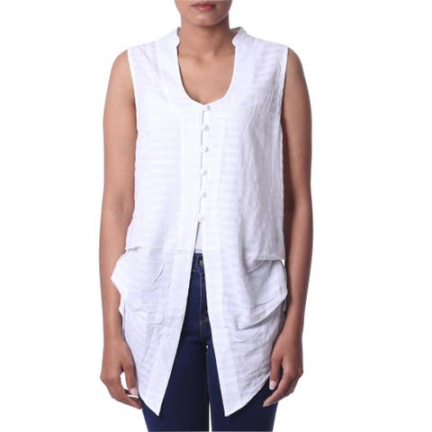 Gentle Breeze Sleeveless Cotton Blouse