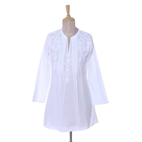 Handmade Ethereal Bloom Cotton Blouse (india)